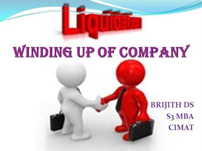 What is the procedure to winding-up Company in India?
