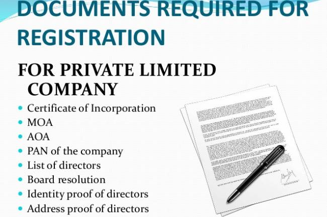 Documents Required For Private Limited Company Registration