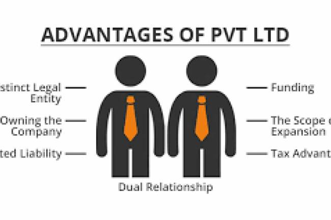What benefits do a person get after making his company 'pvt. ltd.' in India?