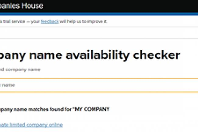 HOW TO CHECK AVAILABILITY OF COMPANY NAME