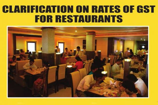 GST Tax rate on restaurants, bars, hotels etc – Impact of GST tax rate on restaurant food bill