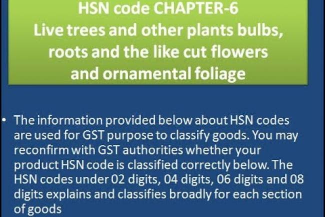 GST Tax Rates for Live trees and other plants bulbs, roots and the like; cut flowers and ornamental foliage – Chapter-6