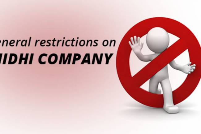General Restriction on Nidhi Companies (Nidhi Ltd) – Rule 6 of Nidhi Rules, 2014