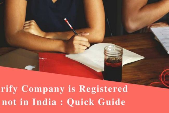 Verify Company is Registered or Not in India