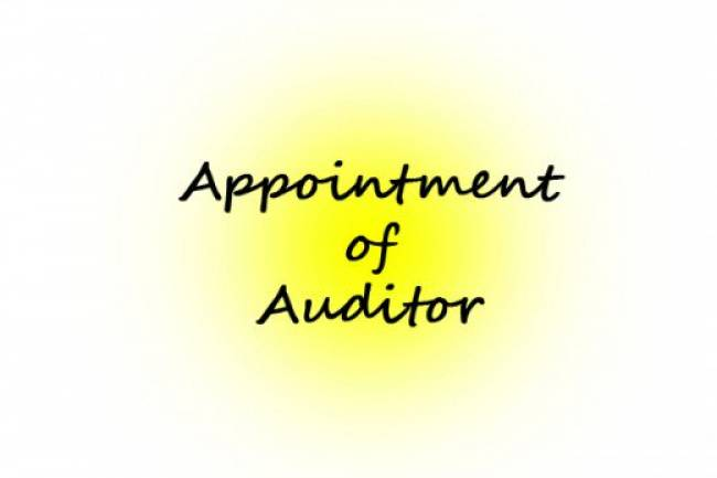 Appointment of the Auditor