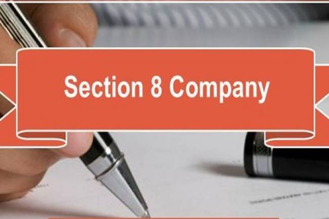 For which purposes the section 8 company can be registered?