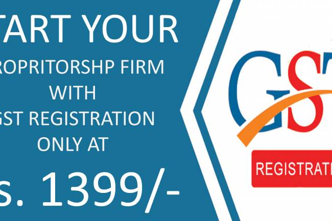 GST Registration Exclusive Offer : For Just 1399 /- Rs