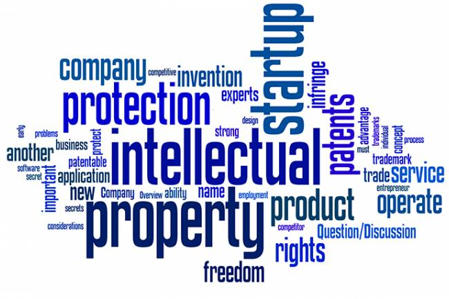How is intellectual property protected in a business?