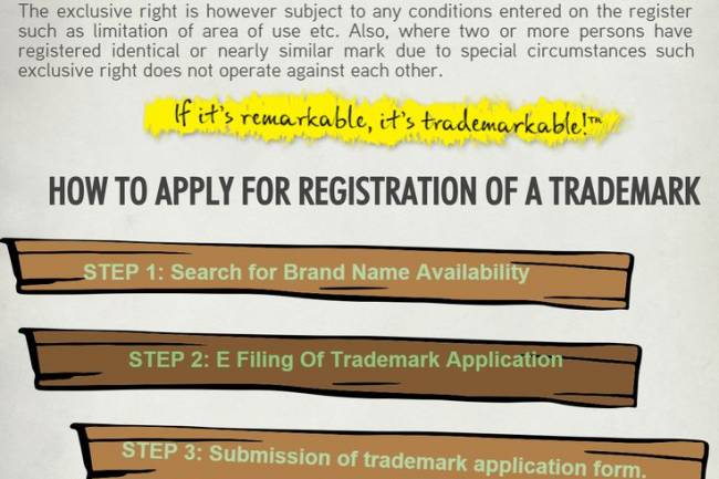How do you register a trademark, such as company name?